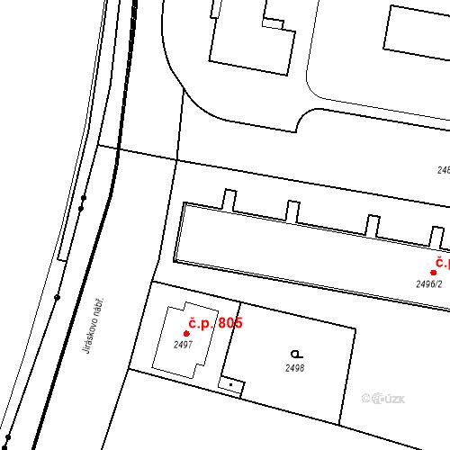 Katastrální mapa Stavební objekt České Budějovice 3 798, 799, 800, 801, 802, České Budějovice