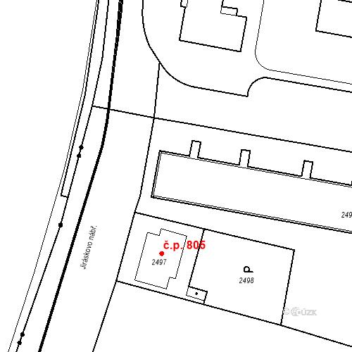 Katastrální mapa Stavební objekt České Budějovice 3 803, České Budějovice