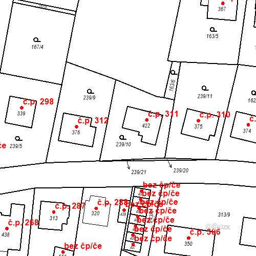 Katastrální mapa Stavební objekt Bernartice 311, Bernartice