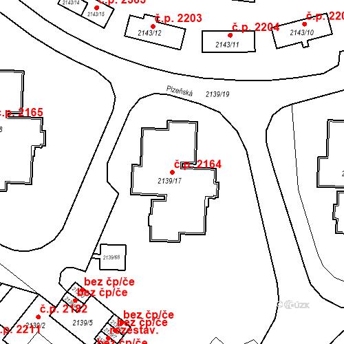 Katastrální mapa Stavební objekt České Budějovice 3 2164, České Budějovice