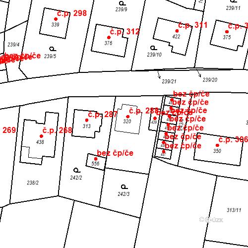 Katastrální mapa Stavební objekt Bernartice 288, Bernartice