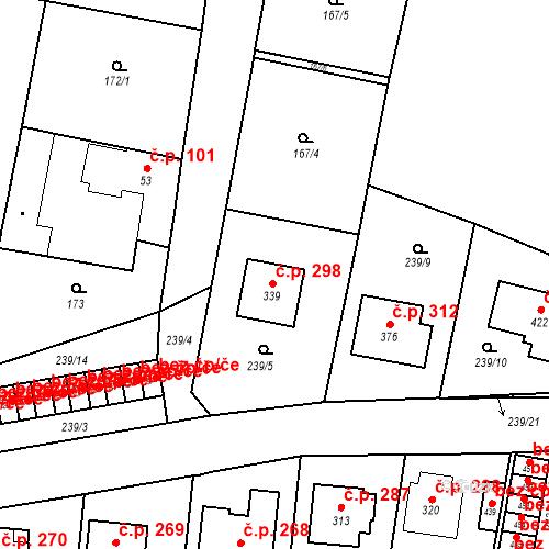 Katastrální mapa Stavební objekt Bernartice 298, Bernartice