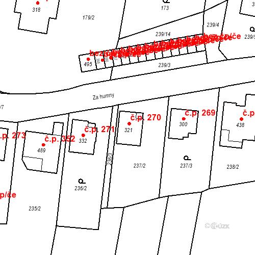 Katastrální mapa Stavební objekt Bernartice 270, Bernartice