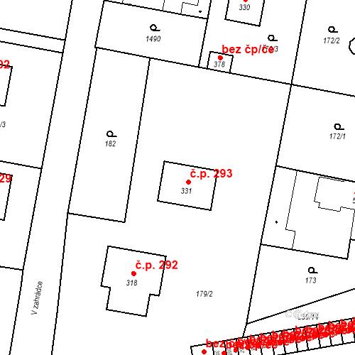 Katastrální mapa Stavební objekt Bernartice 293, Bernartice