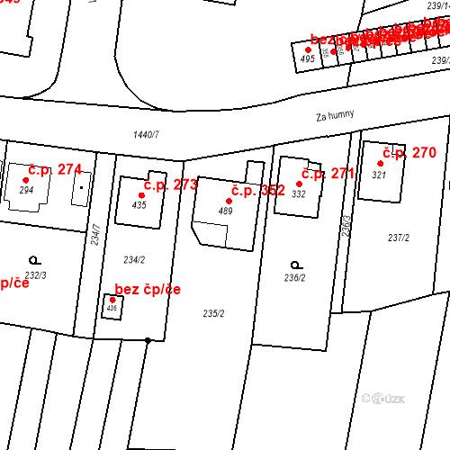 Katastrální mapa Stavební objekt Bernartice 352, Bernartice