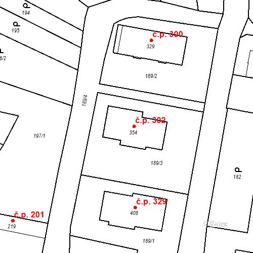 Katastrální mapa Stavební objekt Bernartice 302, Bernartice