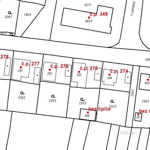 Katastrální mapa Stavební objekt Bernartice 275, Bernartice