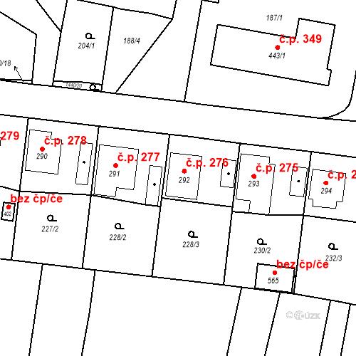 Katastrální mapa Stavební objekt Bernartice 276, Bernartice