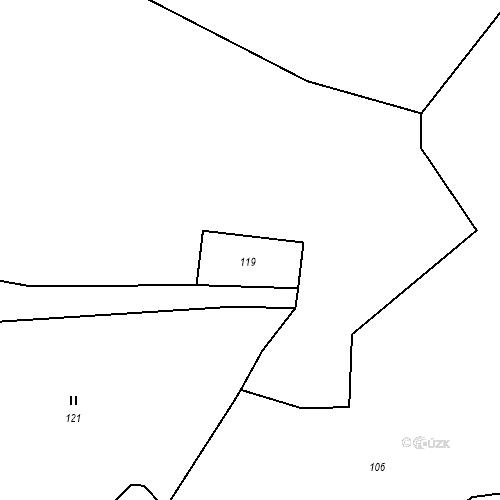 Katastrální mapa Stavební objekt Ryjice 3, Ryjice