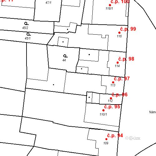 Katastrální mapa Stavební objekt Bernartice 97, Bernartice