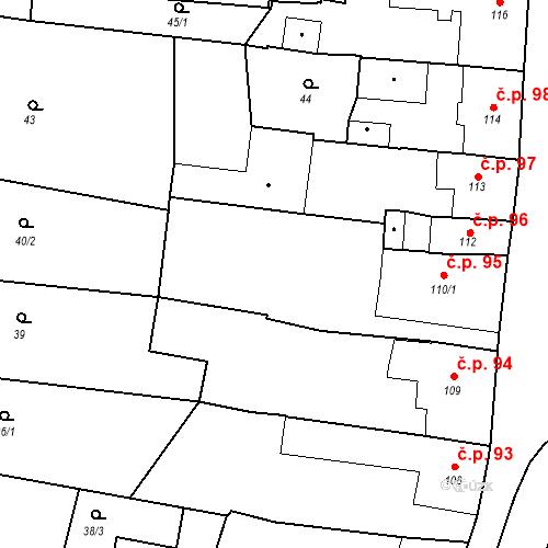 Katastrální mapa Stavební objekt Bernartice 95, Bernartice