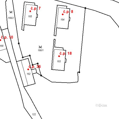 Katastrální mapa Stavební objekt Ryjice 18, Ryjice