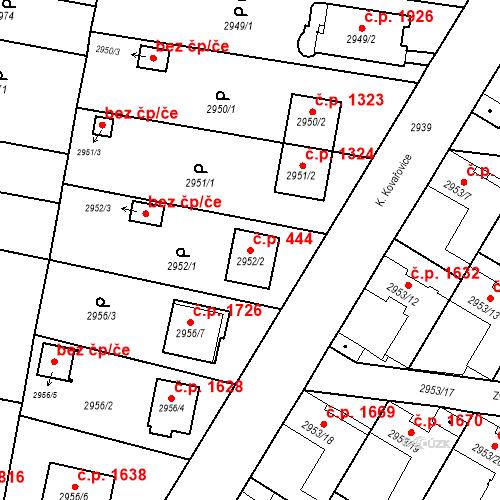Katastrální mapa Stavební objekt České Budějovice 7 444, České Budějovice
