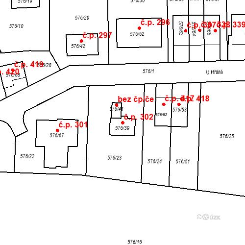 Katastrální mapa Stavební objekt Stehelčeves 302, Stehelčeves