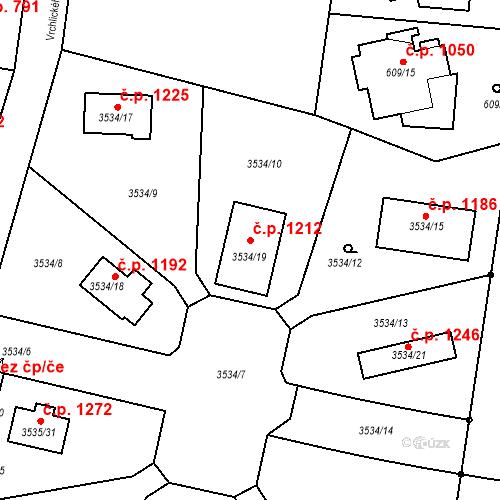 Katastrální mapa Stavební objekt Řevnice 1212, Řevnice