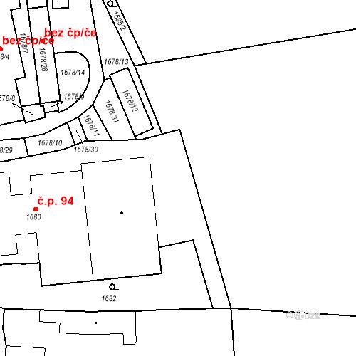 Katastrální mapa Stavební objekt Buštěhrad 94, Buštěhrad