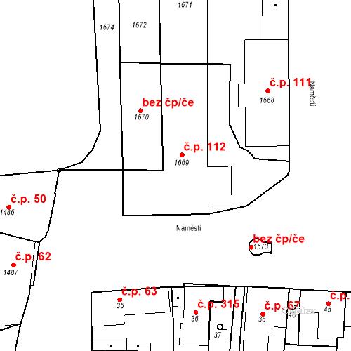 Katastrální mapa Stavební objekt Buštěhrad 112, Buštěhrad