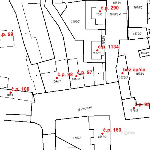 Katastrální mapa Stavební objekt Buštěhrad 97, Buštěhrad