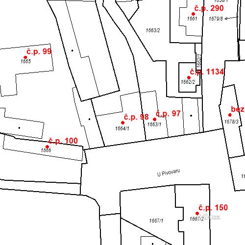 Katastrální mapa Stavební objekt Buštěhrad 98, Buštěhrad
