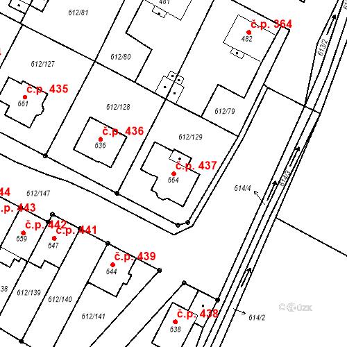 Katastrální mapa Stavební objekt Budyně nad Ohří 437, Budyně nad Ohří