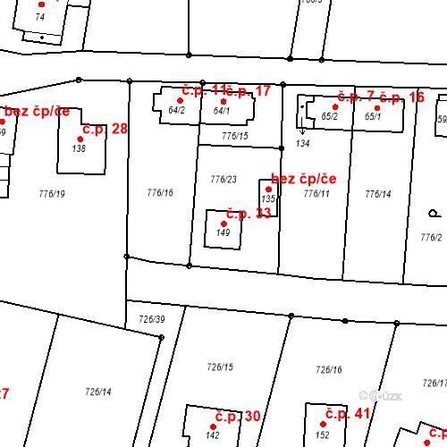 Katastrální mapa Stavební objekt Hubenov 33, Kaplice