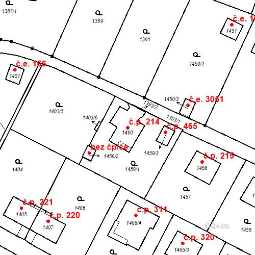 Katastrální mapa Stavební objekt Brná 214, Ústí nad Labem