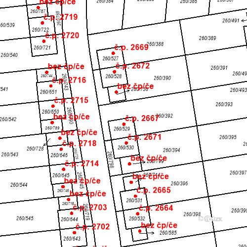 Katastrální mapa Stavební objekt České Budějovice 2 2667, České Budějovice