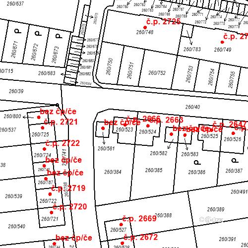 Katastrální mapa Stavební objekt České Budějovice 2 2666, České Budějovice