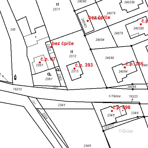 Katastrální mapa Stavební objekt Boršov nad Vltavou 393, Boršov nad Vltavou