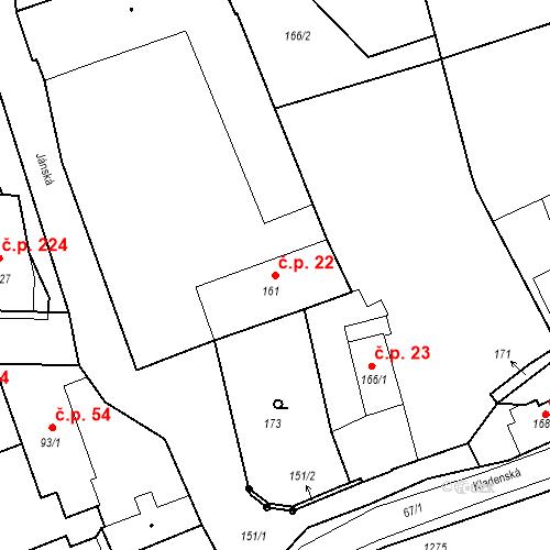 Katastrální mapa Stavební objekt Hřebeč 22, Hřebeč