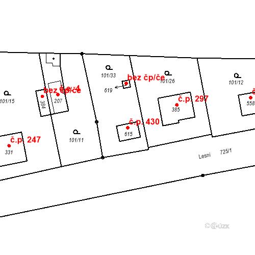 Katastrální mapa Stavební objekt Úhonice 430, Úhonice
