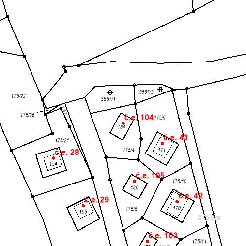 Katastrální mapa Stavební objekt Pašovice 104, Chrášťany