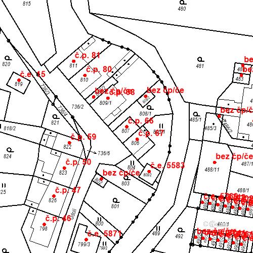 Katastrální mapa Stavební objekt Skorotice 66, Ústí nad Labem