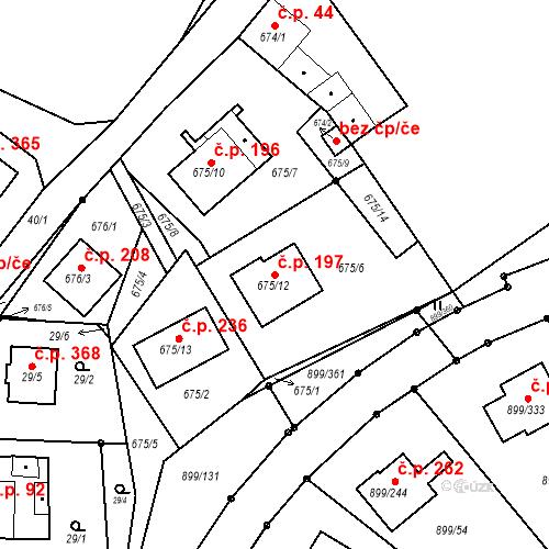 Katastrální mapa Stavební objekt Skorotice 197, Ústí nad Labem