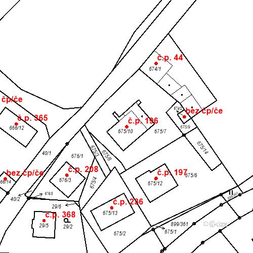 Katastrální mapa Stavební objekt Skorotice 196, Ústí nad Labem
