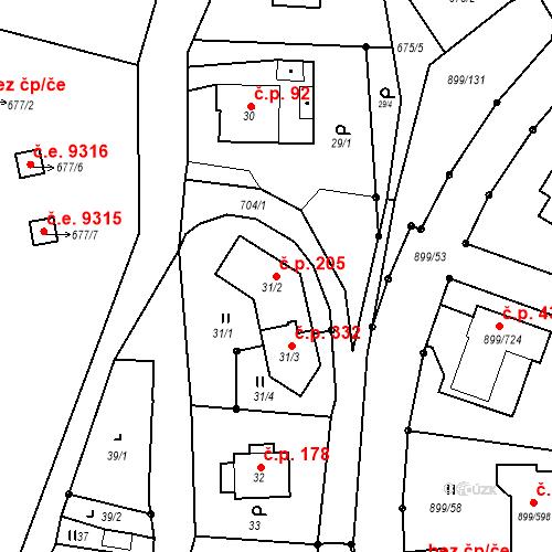 Katastrální mapa Stavební objekt Skorotice 205, Ústí nad Labem