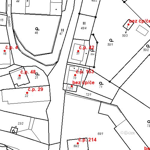 Katastrální mapa Stavební objekt Skorotice 153, Ústí nad Labem