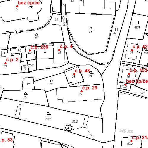 Katastrální mapa Stavební objekt Skorotice 48, Ústí nad Labem