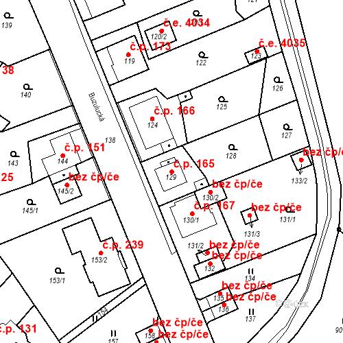 Katastrální mapa Stavební objekt Skorotice 165, Ústí nad Labem
