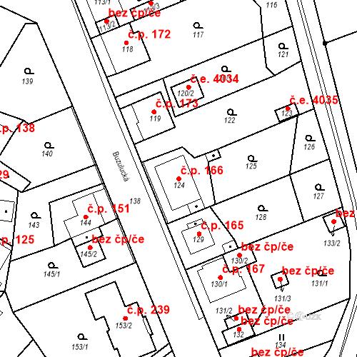 Katastrální mapa Stavební objekt Skorotice 166, Ústí nad Labem