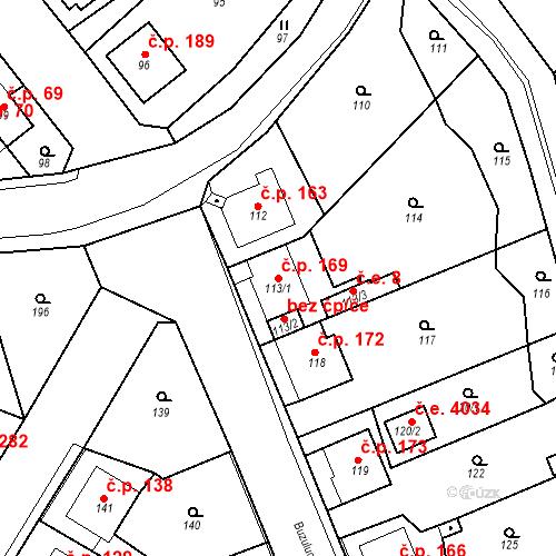 Katastrální mapa Stavební objekt Skorotice 169, Ústí nad Labem