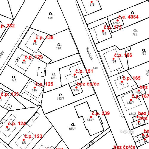 Katastrální mapa Stavební objekt Skorotice 151, Ústí nad Labem