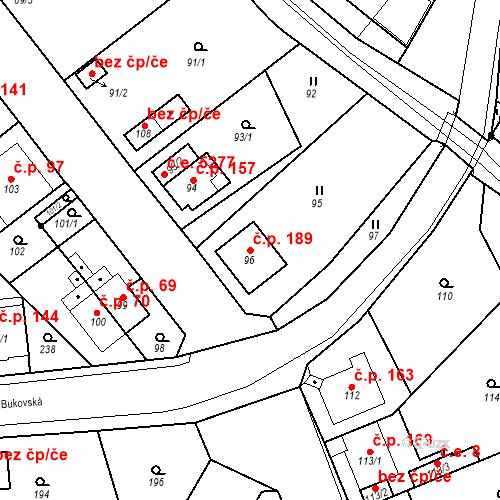 Katastrální mapa Stavební objekt Skorotice 189, Ústí nad Labem