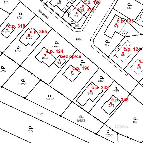 Katastrální mapa Stavební objekt Skorotice 190, Ústí nad Labem