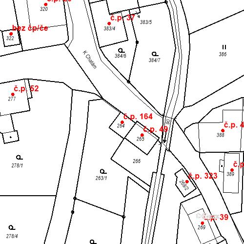 Katastrální mapa Stavební objekt Skorotice 164, Ústí nad Labem