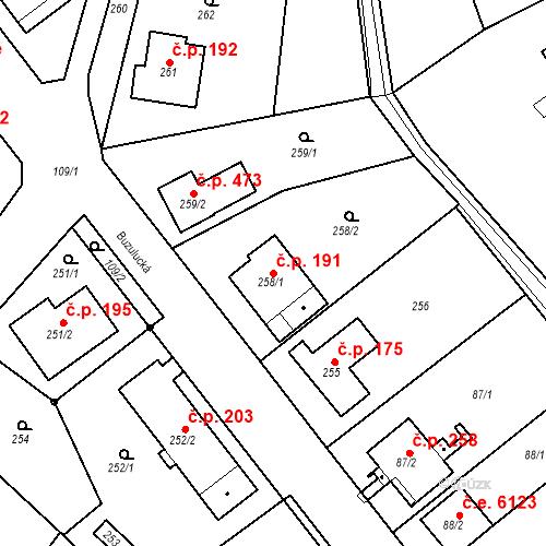 Katastrální mapa Stavební objekt Skorotice 191, Ústí nad Labem