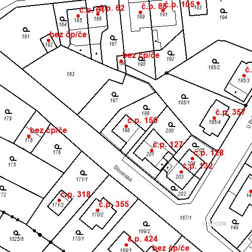 Katastrální mapa Stavební objekt Skorotice 150, Ústí nad Labem