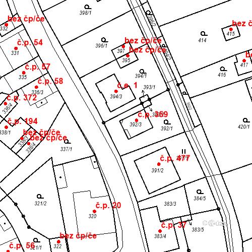 Katastrální mapa Stavební objekt Skorotice 359, Ústí nad Labem
