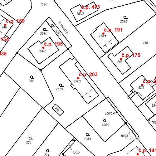 Katastrální mapa Stavební objekt Skorotice 203, Ústí nad Labem