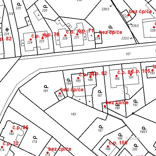 Katastrální mapa Stavební objekt Skorotice 61, Ústí nad Labem